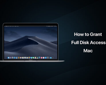 how to grant full disk access mac mojave