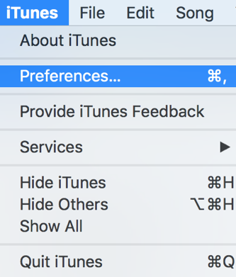 iTunes-Preference
