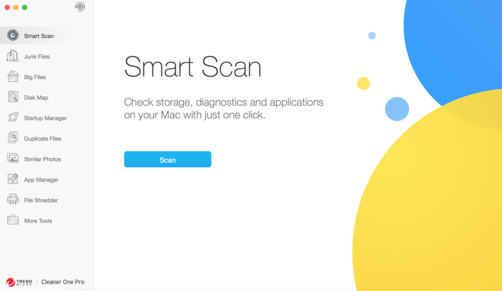Cleaner One Pro smart scan interface