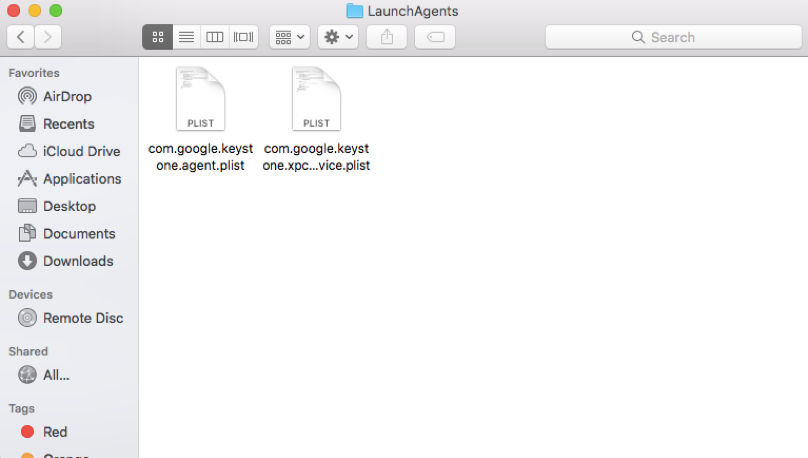 Search for Marquis in the LaunchAgents folder