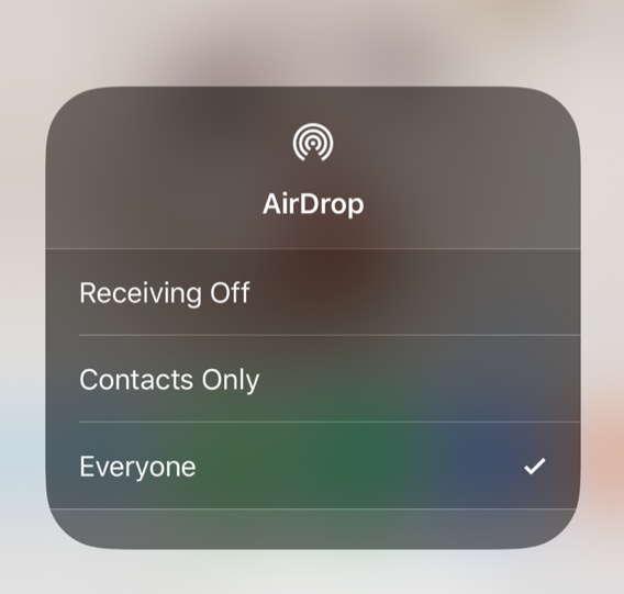 AirDrop on your mobile device