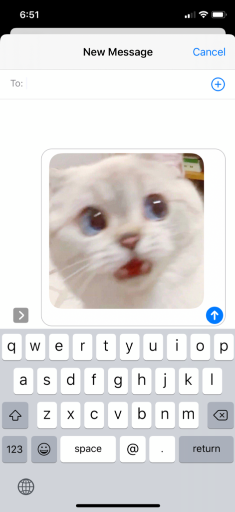 Send photos with iMessage