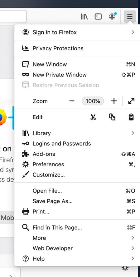 Firefox-Main Menu-Help
