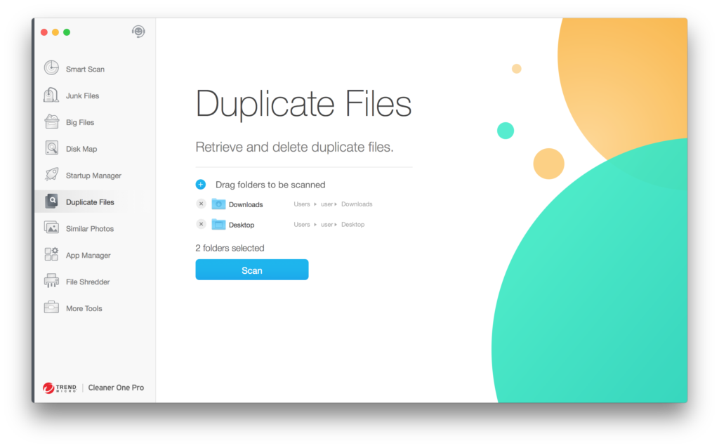 Scan for duplicate files