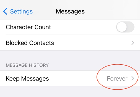 clean message iphone