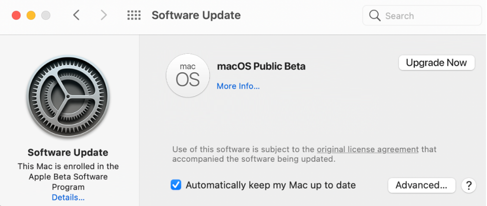 Go to software update
