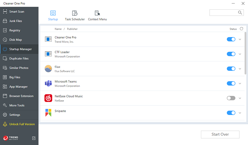Manage Start Up Items Windows 10