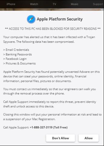 apple platform security alert