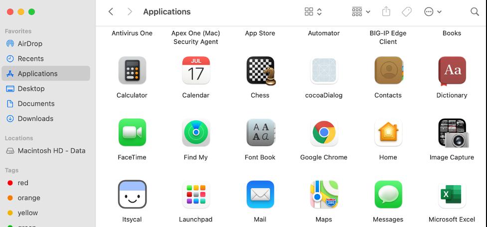 Finder-Applications