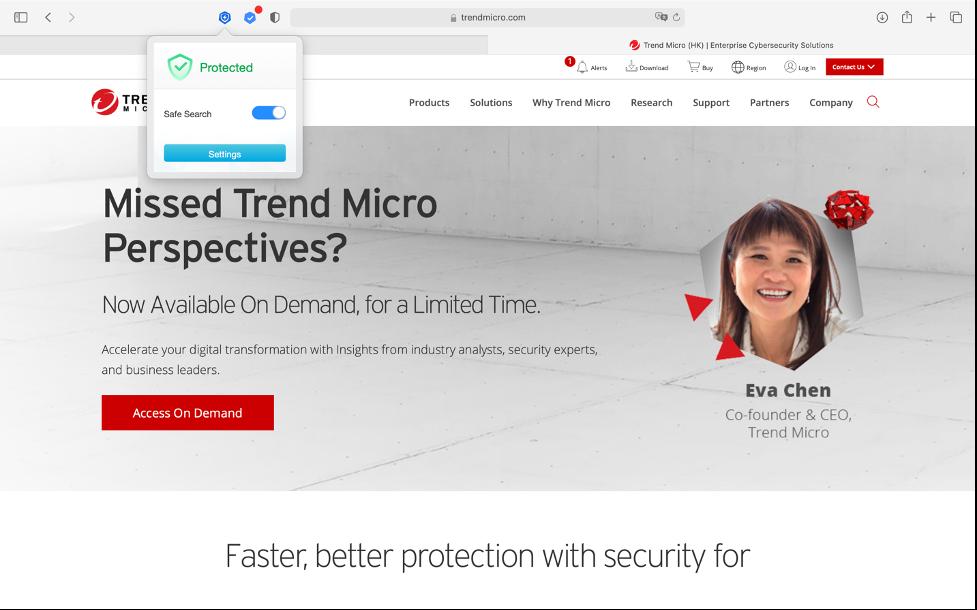 Antivirus One blocks malicious webpages