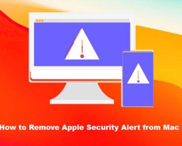 remove apple security alert