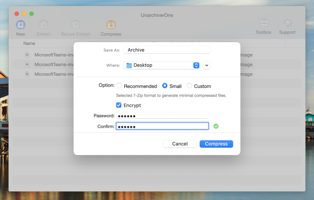 Configure all the settings.
